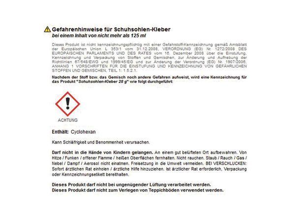 Schuhsohlen- und Lederkleber BINDULIN LK 9, 28 g - Produktbild 2