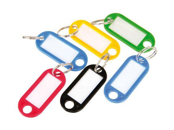 Beschriftbare Schlüsselanhänger, 6 Stück
