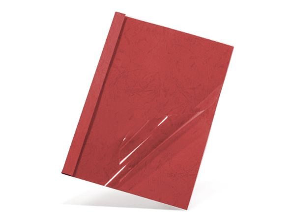 Thermobindemappen, DIN A4, 35 mm, 50 Stück, rot