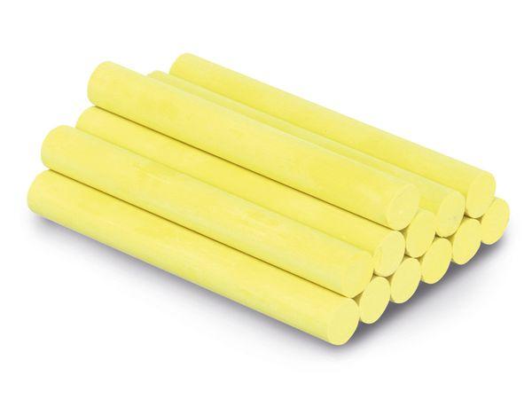 Naturreine Kreide, 10x81 mm, gelb, 12 Stück - Produktbild 1