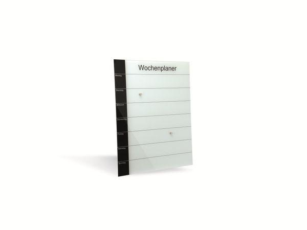 Glas-Magnetboard mit Wochenplaner HAMA Belmuro, 41x52 cm - Produktbild 1