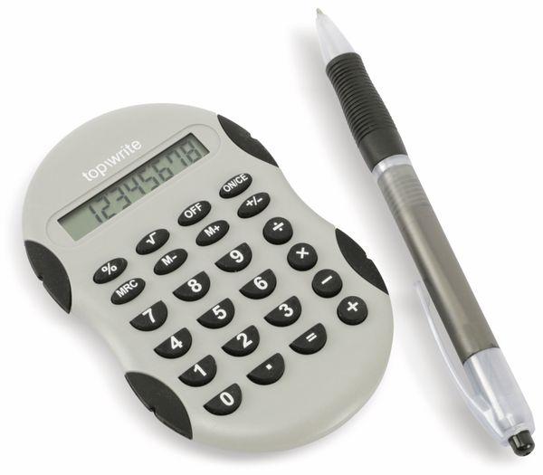 Taschenrechner mit Kugelschreiber