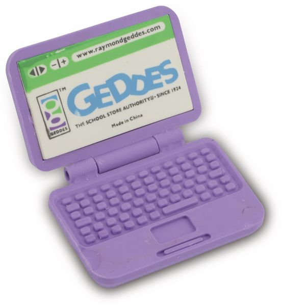 Radiergummi Laptop, lila - Produktbild 1