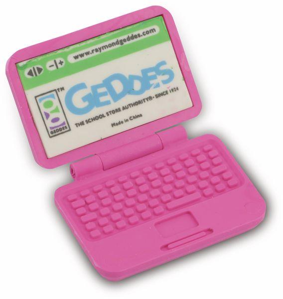 Radiergummi Laptop, pink - Produktbild 1