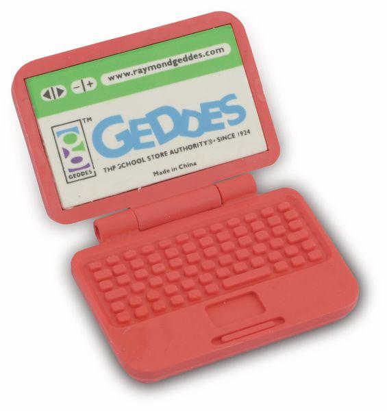 Radiergummi Laptop, rot - Produktbild 1