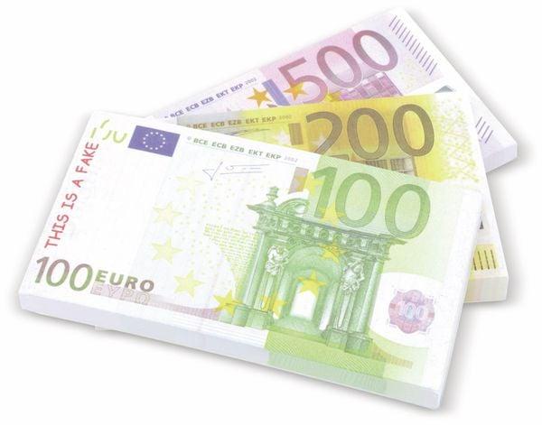 Notizblock TOPWRITE, verschiedene Euro Noten
