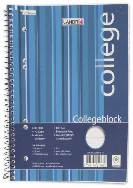 College-Block LANDRÉ 100050578, DIN A5+, liniert, 80 Blatt - Produktbild 1