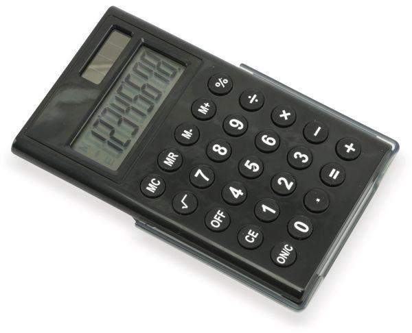 Taschenrechner D3-2, Dual-Power, schwarz - Produktbild 1