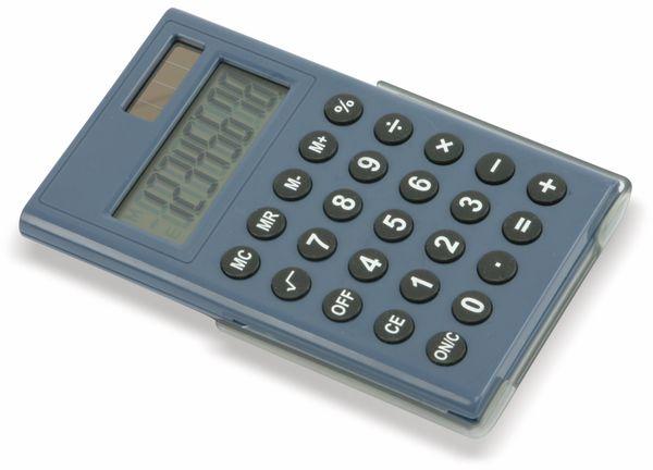 Taschenrechner D3 2 Dual Power Blau Pollinde