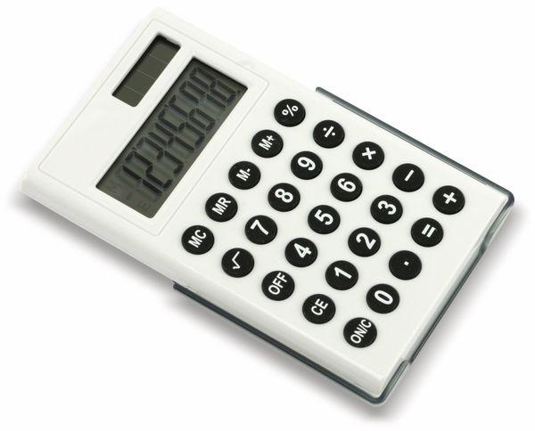 Taschenrechner D3-2, Dual-Power, weiß - Produktbild 1