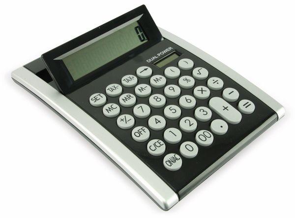 Tischrechner D2-1, Dual-Power, schwarz/silber