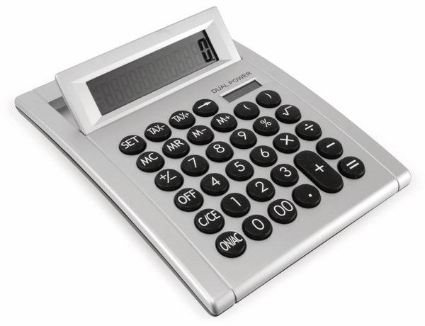 Tischrechner D2-1, Dual-Power, silber