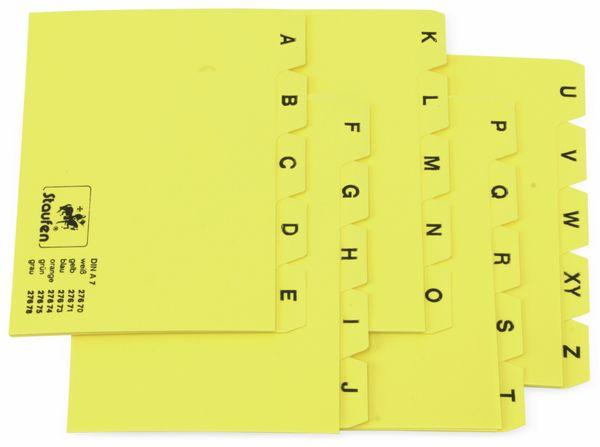 Karteiregister STAUFEN 27671, DIN A7, gelb - Produktbild 1