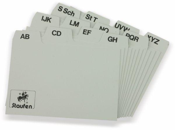 Karteiregister STAUFEN, 75x60 mm, grau - Produktbild 1