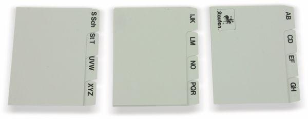 Karteiregister STAUFEN, 75x60 mm, grau - Produktbild 2