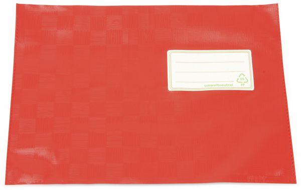 Hefthüllen, A6 quer, rot, 10 Stück