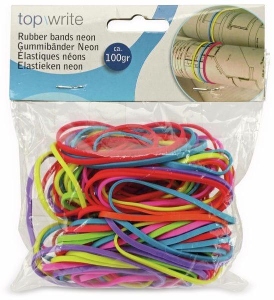 Gummibänder, Neonfarben, ca. 100 g - Produktbild 2