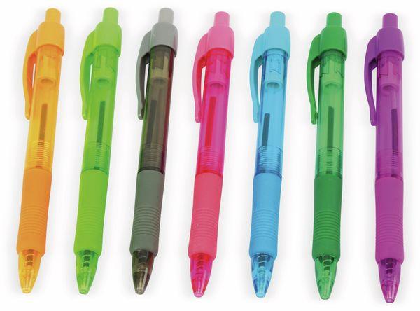 Kugelschreiber-Set, bunte Minen, 7-Stück - Produktbild 3