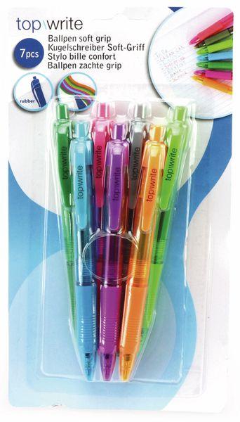 Kugelschreiber-Set, bunte Minen, 7-Stück - Produktbild 4