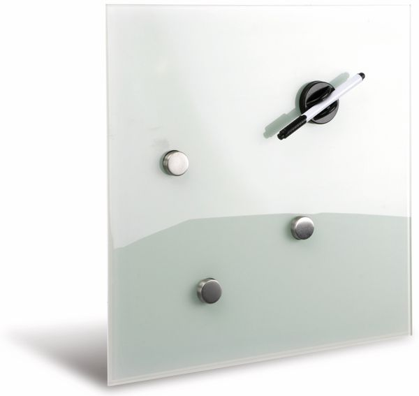 Glasmagnetboard HAMA, 40x40 cm, weiß