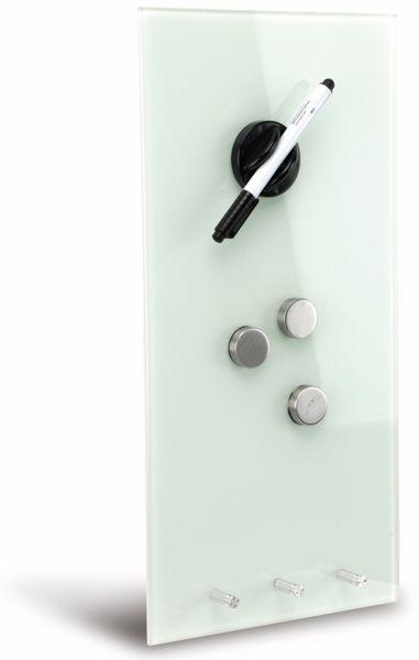 Glasmagnetboard HAMA, 20x40 cm, weiß