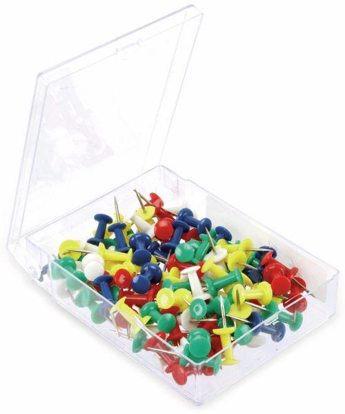Reißnägel-Set, mit Kunstoffbox, 100 St. - Produktbild 2