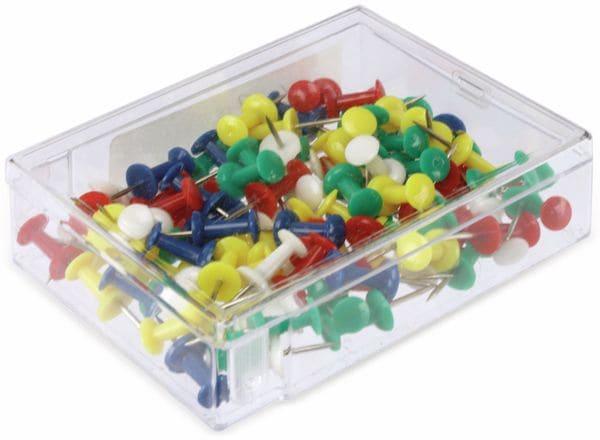 Reißnägel-Set, mit Kunstoffbox, 100 St. - Produktbild 3