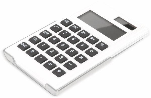Taschenrechner D3-5, Dual-Power, weiß - Produktbild 1