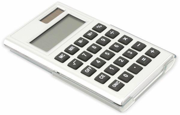 Taschenrechner D3-3, Dual-Power, silber - Produktbild 1
