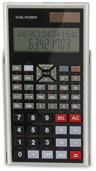Wissenschaftlicher Taschenrechner D1-5, Dual-Power, silber