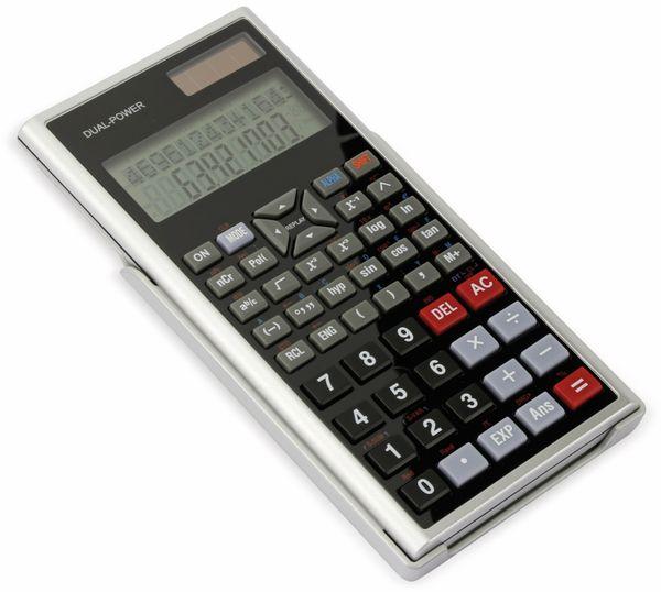 Wissenschaftlicher Taschenrechner D1-5, Dual-Power, silber - Produktbild 2