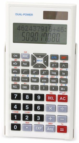 Wissenschaftlicher Taschenrechner D1-5, Dual-Power, weiß - Produktbild 1
