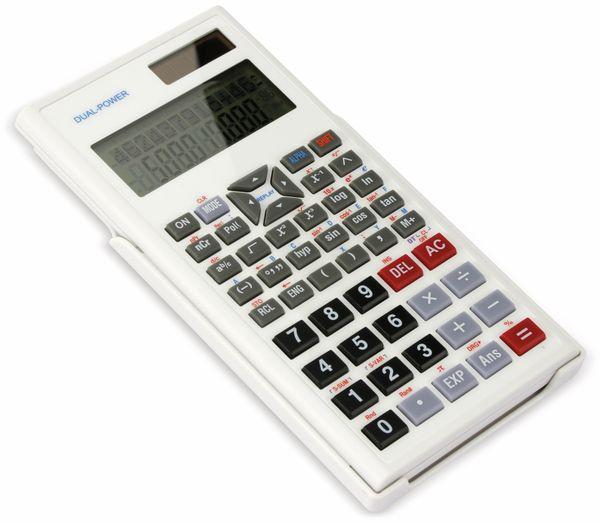 Wissenschaftlicher Taschenrechner D1-5, Dual-Power, weiß - Produktbild 2