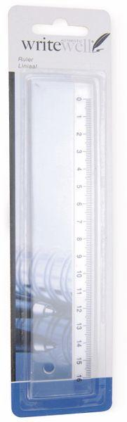 Lineal, 16 cm, transparent