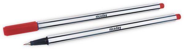 Feinschreiber NICEDAY Fineliner Pens, rot, 10 Stück
