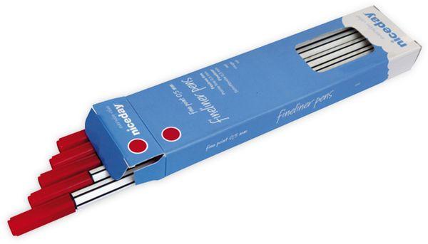 Feinschreiber NICEDAY Fineliner Pens, rot, 10 Stück - Produktbild 2