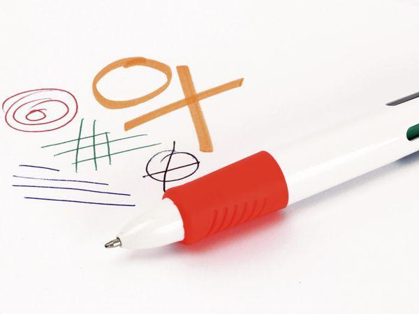 Kugelschreiber, vierfarbig mit orangenen Marker - Produktbild 3