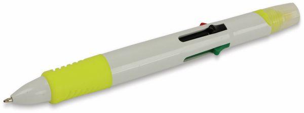 Kugelschreiber, vierfarbig mit gelben Marker