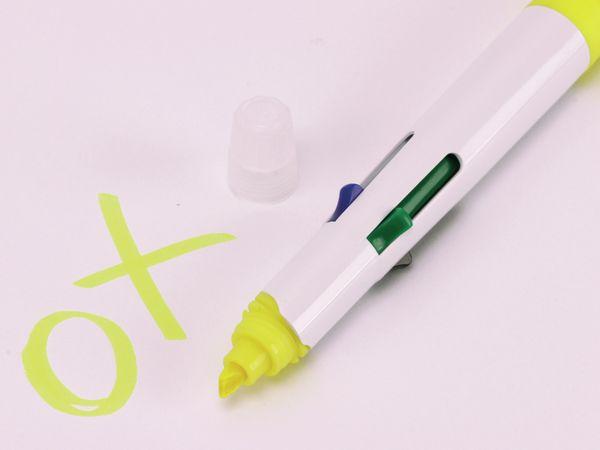 Kugelschreiber, vierfarbig mit gelben Marker - Produktbild 2