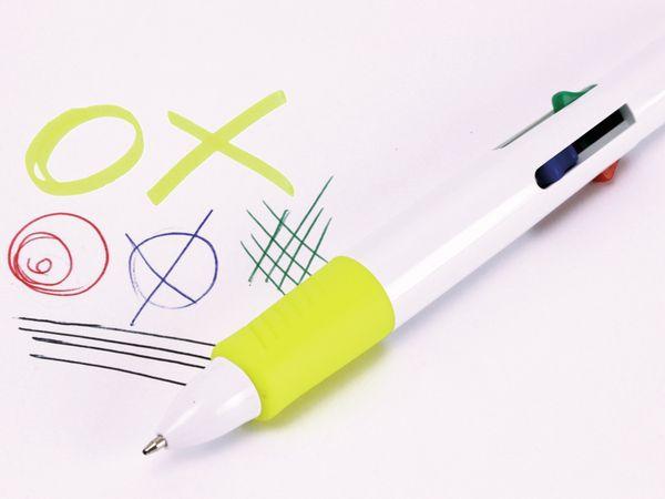 Kugelschreiber, vierfarbig mit gelben Marker - Produktbild 3