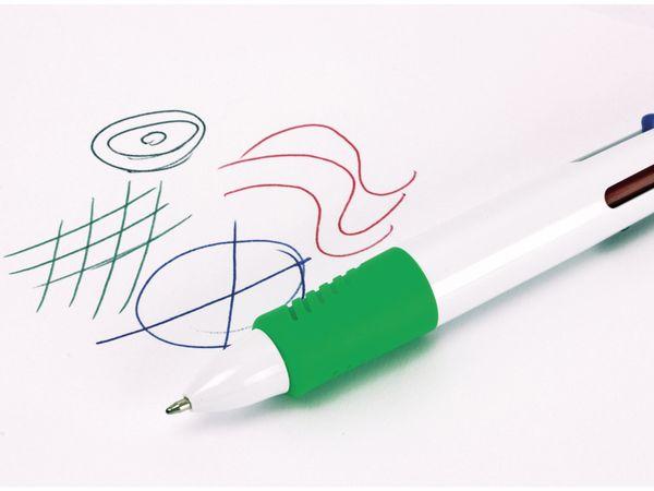 Kugelschreiber, vierfarbig mit grünem Marker - Produktbild 3