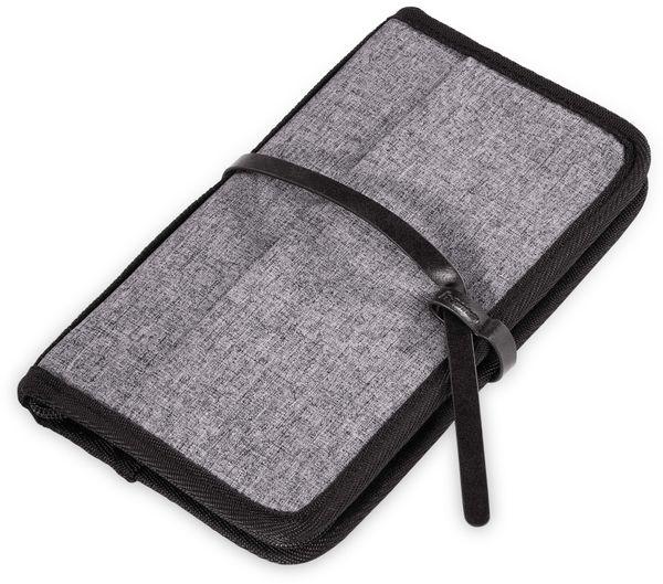 Reiseorganizer HAMA 128799, schwarz/grau, 14,5x25x23,5 cm