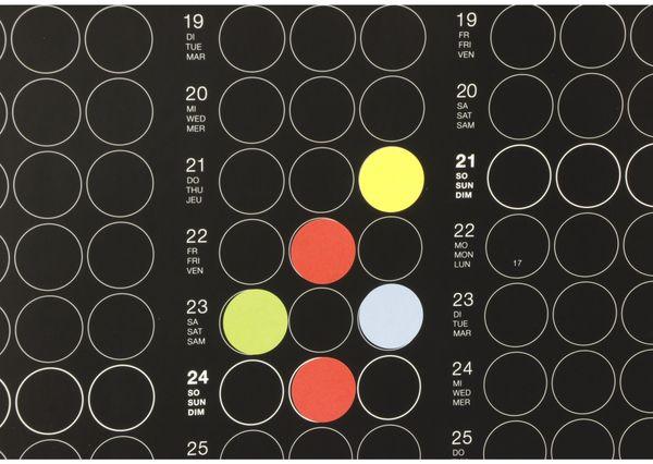 Kalender, Dot On, Jahresplaner, 2019, B-Ware - Produktbild 2