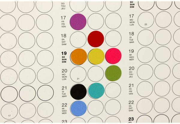 Kalender, Dot On, Jahresplaner, 2019, B-Ware - Produktbild 5