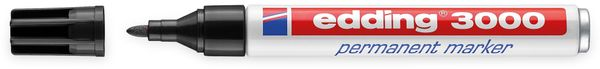 EDDING, 4-3000001, e-3000 permanent marker schwarz