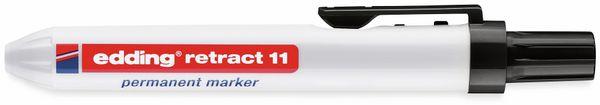 Permanent-Marker EDDING, e-11 retract, schwarz