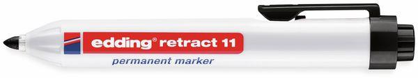 Permanent-Marker EDDING, e-11 retract, schwarz - Produktbild 2