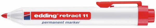 Permanent-Marker EDDING, e-11 retract, rot