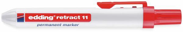 Permanent-Marker EDDING, e-11 retract, rot - Produktbild 2