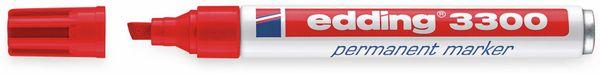 Permanent-Marker EDDING, e-3300, rot
